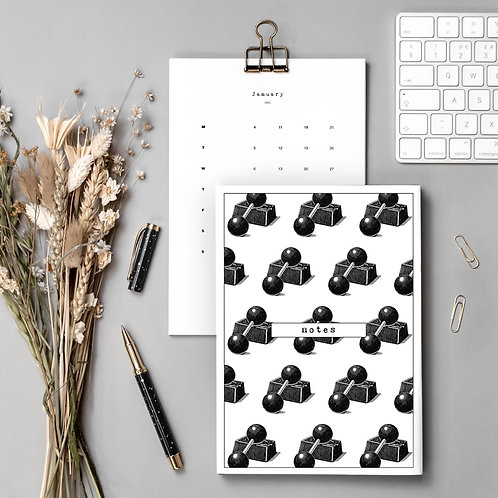 Gym Lover Gift Set with Calendar and Notebook