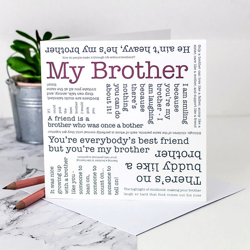 Brother Quotes Card