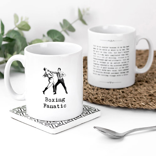 Boxing Fanatic Vintage Words Quotes Mug x 3