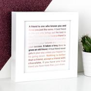 Friendship Rose Gold Framed Print - Perfect Best Friend Gift