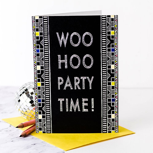 Woo Hoo Party Time | 10 Birthday Party Invites