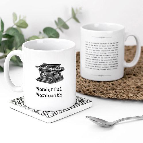 Wonderful Wordsmith Vintage Words Quotes Mug x 3