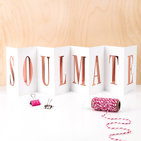 Anniversary 'SOULMATE' Foil Concertina Card