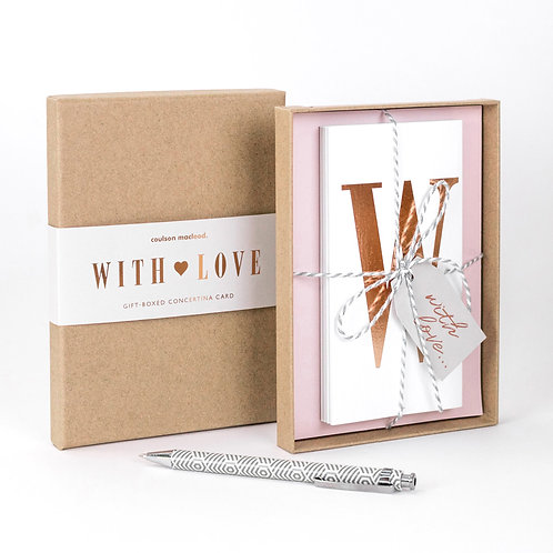 With Love | Luxury Boxed Concertina Card x 3
