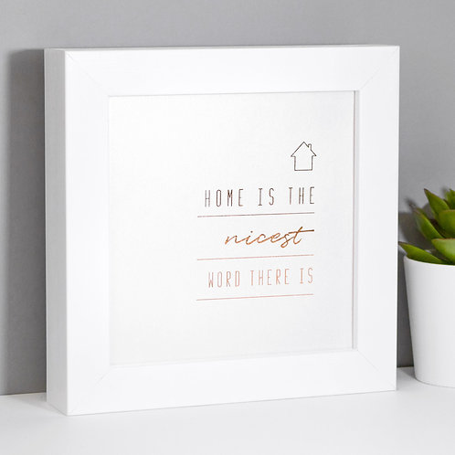 Home | Mini Rose Gold Pearlescent Framed Print