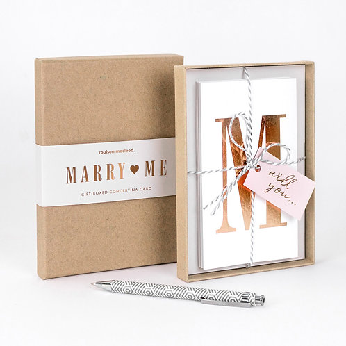 Marry Me | Luxury Boxed Concertina Card x 3