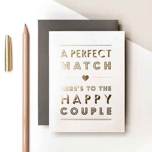 Perfect Match Mini Metallic Wedding Card | Precious Metals