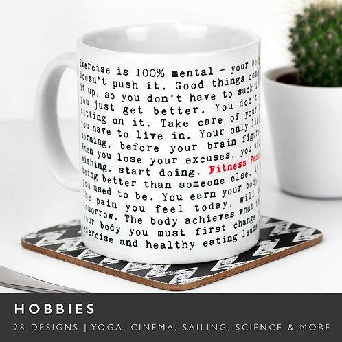 Wise Words HOBBIES Mugs (30 Designs) x 3