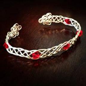 """""""She Loved"""" Celtic braid bracelet"""
