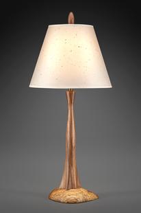 Walnut and Oak Tree Lamp