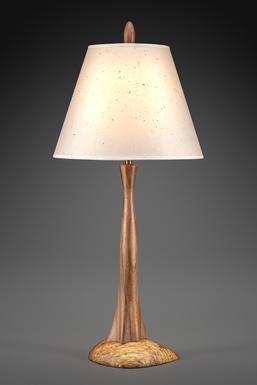 Tree^2 Lamp in walnut and splated oak