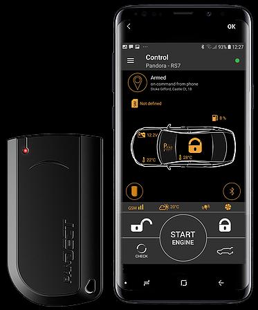 Pandora car alarms Light Pro Tag and Bluetooth Phone App