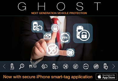 JP auto services, Ghost Immobiliser logo, Ghost immobiliser, vehicle security, car immobiliser