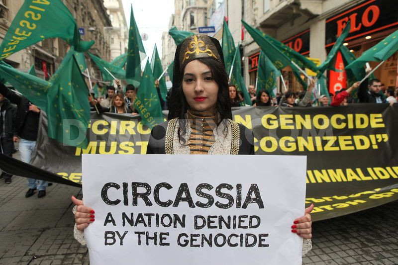 Circassian protesters, early 21st century