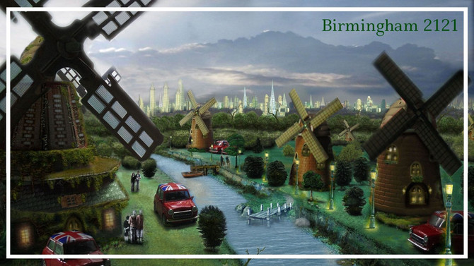The Green Future of Birmingham, England.