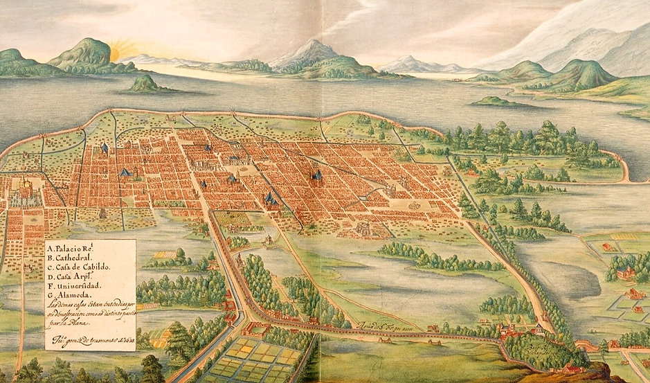 Maps-Prints-from-the-17th-century-Mexico