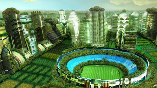 A Green Utopian Future for Brazil's Soccer City?