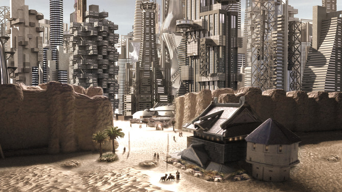 A New Walled City in a Newly-made Desert