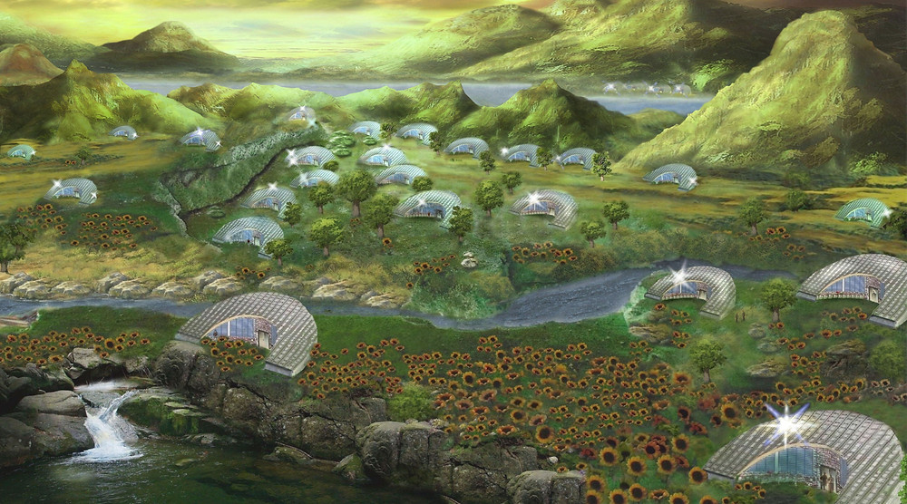 Heliotropic Sunflower Homes (designed by The Ecomimicry Project)