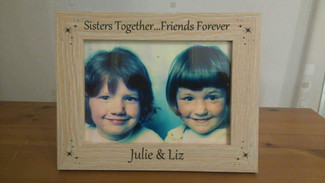 Sisters Together Personalised Frame