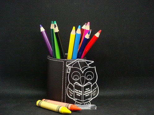 Personalised Thank You Teacher Owl Desktop Trophy/Graduation Trophy