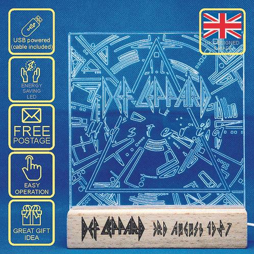 Def Leppard Hysteria Album Cover LED Lamp