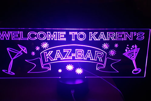 Personalised Bar Sign Size D W: 430mm x H:148mm