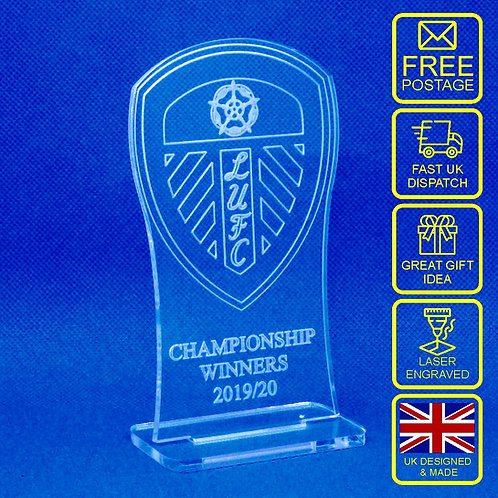 Leeds United Championship Winners 2019/20 Desk Trophy Ornament