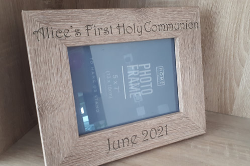 """Personalised First Holy Communion Frame 5"""" X 7"""" Landscape or Portrait"""