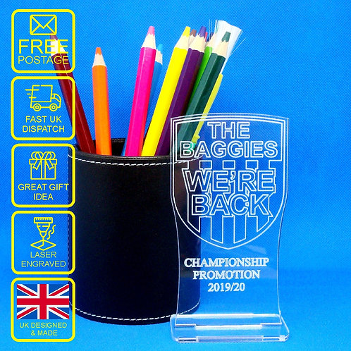 The Baggies We're Back Championship Promotion 2019/20 Desk Trophy/Ornament