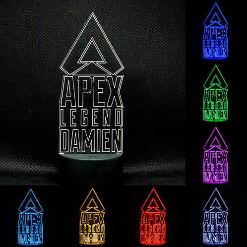 Personalised Apex Legend 1 LED Colour Changing Bedside Lamp