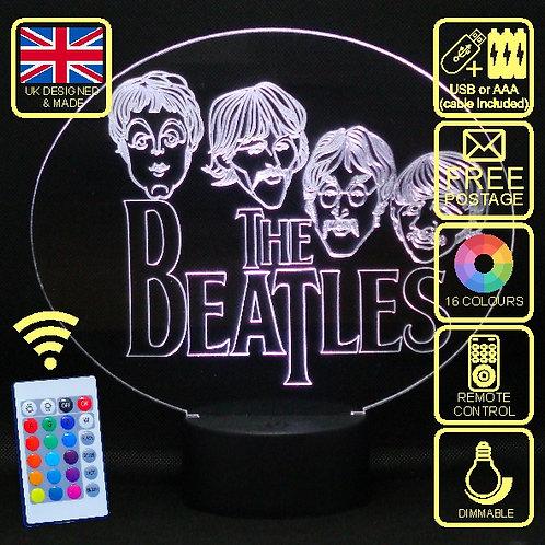 Personalised Beatles LED Bedside Lamp