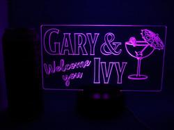 Personalised LED Bar Sign