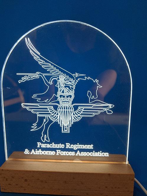 Combined Parachute Regiment & Airborne Forces Association LED Lamp