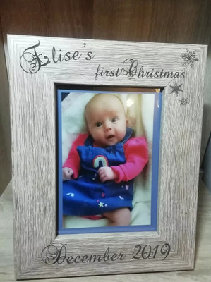 """Personalised Baby's First Christmas Frame 5"""" x 7"""" Portrait"""