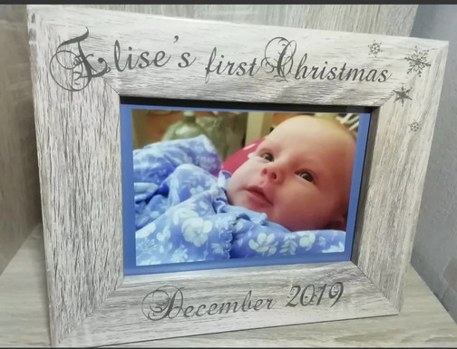 Personalised Baby's First Christmas Frame