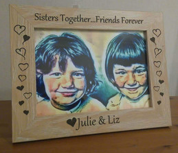 Personalised Sisters Together....Friends Forever Frame