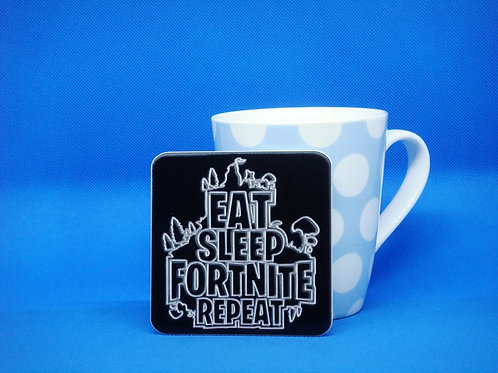 Eat Sleep Fortnite Repeat Coaster - Mix and Match. Buy 2 Get 2 Free!