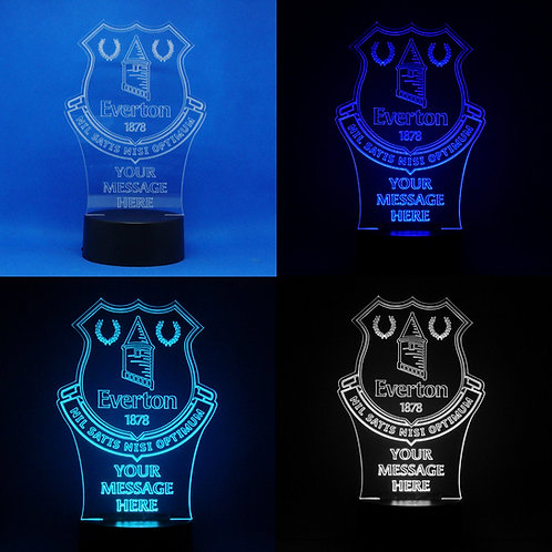 Personalised Everton Colour Changing LED Lamp