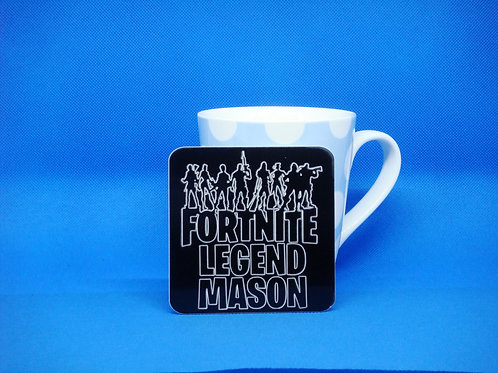 Personalised Fortnite Legend Coaster - Mix and Match. Buy 2 Get 2 Free!