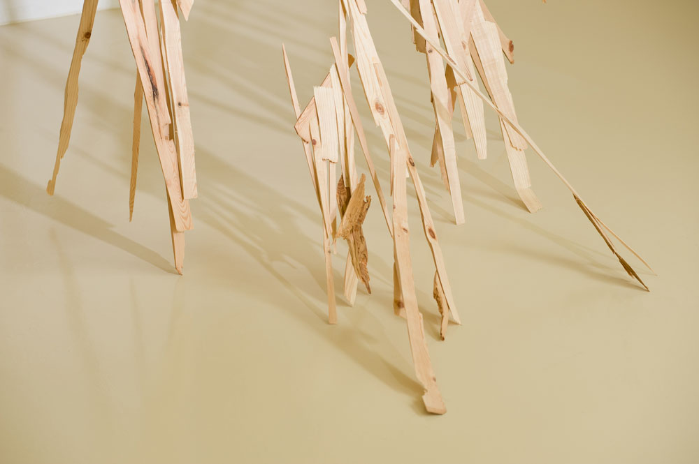Untitled, 2010, wood, detail