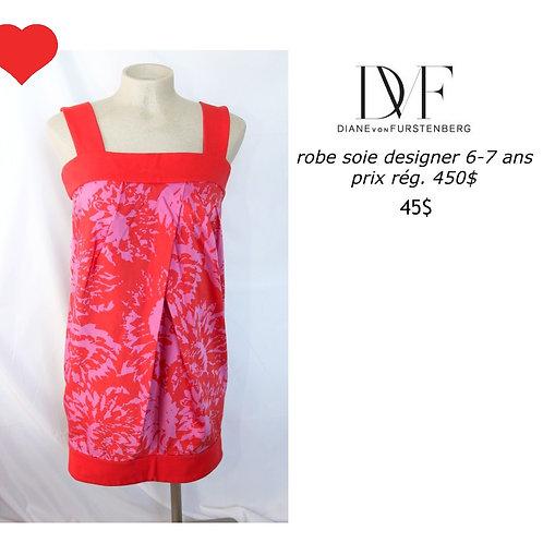 robe Diane Von Furstenberg 71%soie 6 ans silk dress