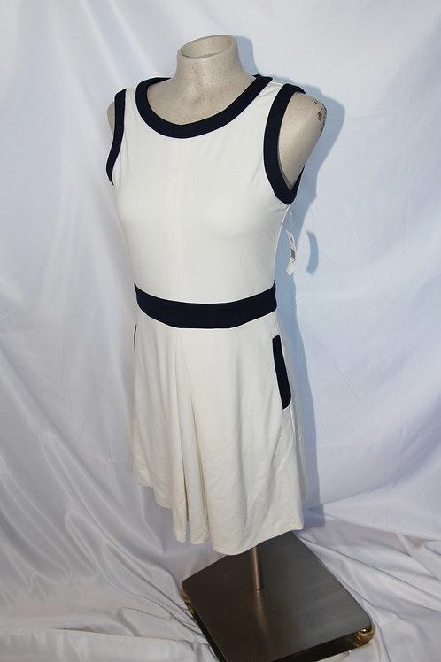 robe crème et bleu Amanda Uprichard 12 ans Large