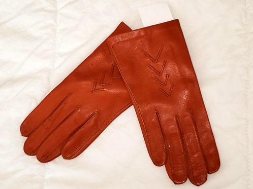 gants cuir rouille xs