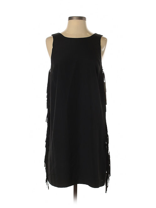 robe noire franges  Kensie small black fringe dress