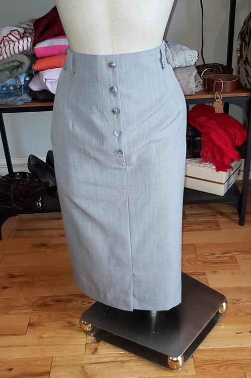 jupe crayon grise Hammerschmidt pencil skirt vintage grey 28