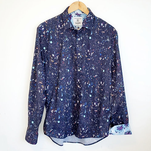 chemise marine fleurie homme médium Thomson & Richards