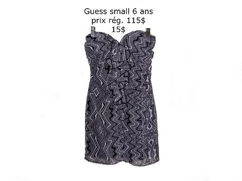 mini robe bustier Guess noire et grise 7 ans