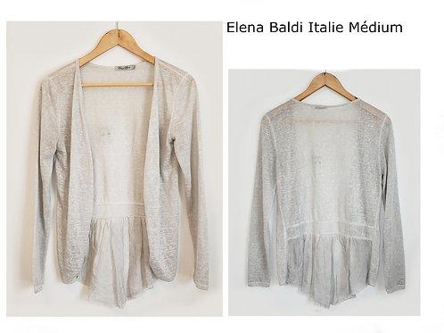 Elena Baldi veste grise légère médium