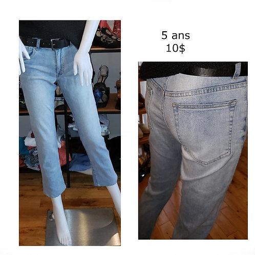 jeans délavés 5 ans taille haute sans trous